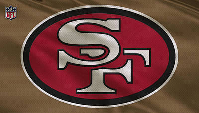 San Francisco 49ers Uniform Art Print