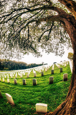 Travel Destinations Photograph - San Francisco National Cemetery by Celso Diniz