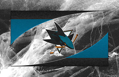 San Jose Sharks Art Print by Joe Hamilton