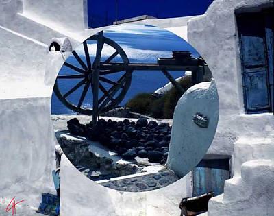 Santorini Island Greece Art Print by Colette V Hera  Guggenheim