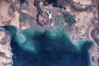 Satellite View Of Coastal Area Art Print