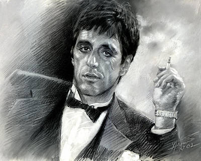 Drawing - Scarface by Viola El