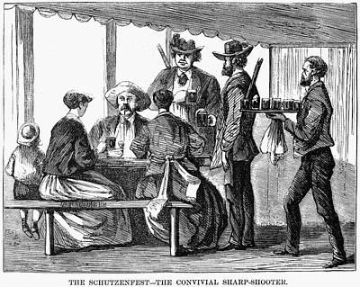 Pennsylvania Drawing - Schutzenfest, 1868 by Granger