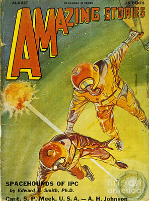 Pulp Magazines Painting - Sci-fi Magazine Cover 1931 by Granger