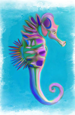 The Pretty Seahorse Art Print