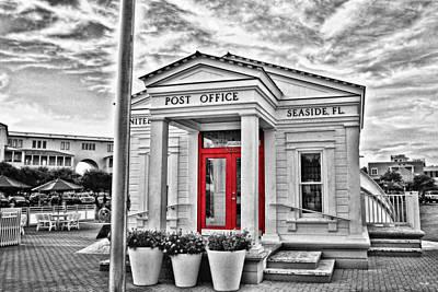 White Topaz Photograph - Seaside Post Office by Scott Pellegrin