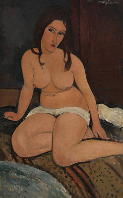 Sadness Painting - Seated Nude by Amedeo Modigliani