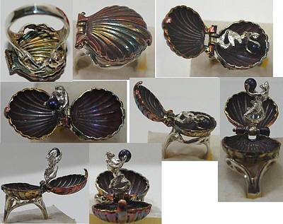 Shibuichi Jewelry - Secret Mermaid Ring by Michelle  Robison