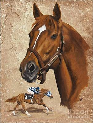 Painting - Secretariat by Pat DeLong
