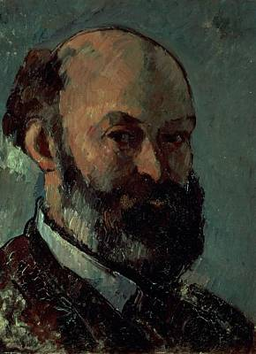 Post-impressionist Photograph - Self Portrait by Paul Cezanne