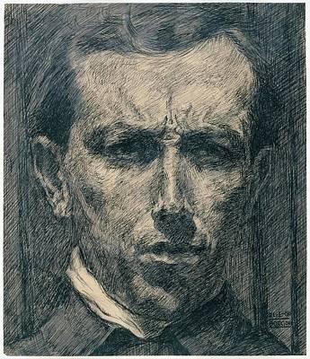 Umberto Boccioni Drawing - Self-portrait by Umberto Boccioni