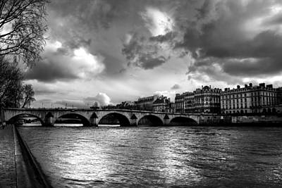 Photograph - Sena River In Paris After Storm by Radoslav Nedelchev