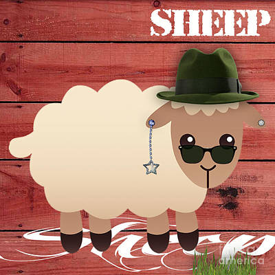 Mixed Media - Sheep Collection by Marvin Blaine