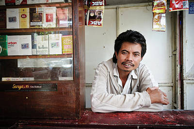 Country Store Photograph - Shopkeeper With Leprosy by Matthew Oldfield