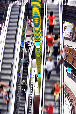Shopping Photograph - Shopping Abstact by Michal Bednarek