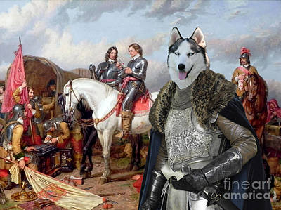 Siberian Husky Painting - Siberian Husky Art Canvas Print by Sandra Sij