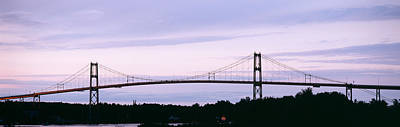 Thousand Islands Photograph - Silhouette Of A Suspension Bridge by Panoramic Images
