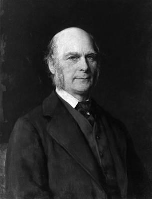 Francis Galton Painting - Sir Francis Galton (1822-1911) by Granger