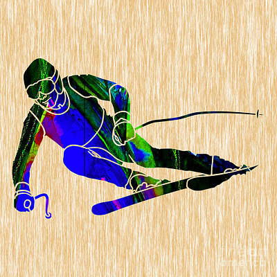 Skiing Art Print by Marvin Blaine