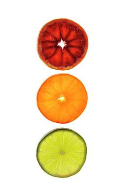 Slices Of Citrus Fruit Art Print by Cordelia Molloy