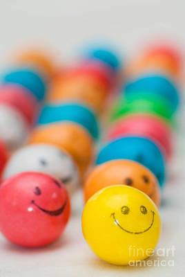 Smiley Face Gum Balls Art Print