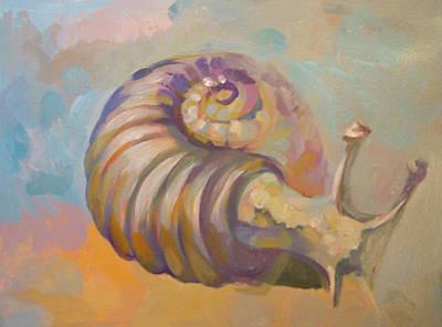 Snail Art Print by Filip Mihail