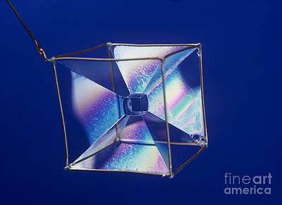 Soap Films On A Cube Art Print