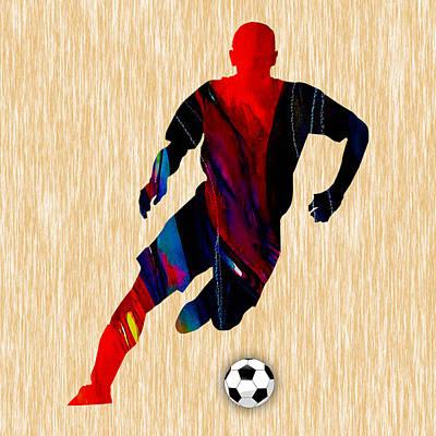 Soccer Ball Mixed Media - Soccer by Marvin Blaine