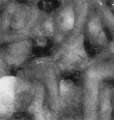 3 Some Abstract Erotica Bw Art Print