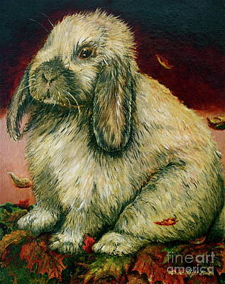Painting - Some Bunny Is A Honey by Linda Simon