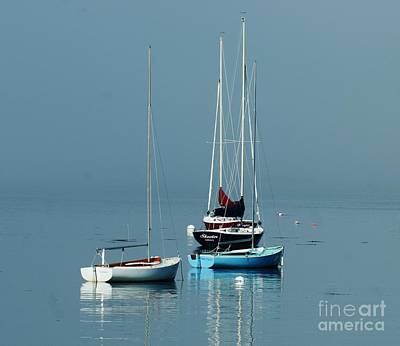 Art Print featuring the photograph Sorrento Sailboats  by Christopher Mace