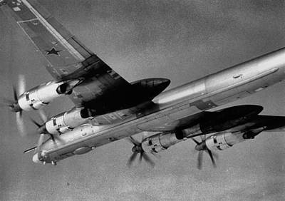 B-52 Mixed Media - Soviet Tupolev 95 Bear by L Brown