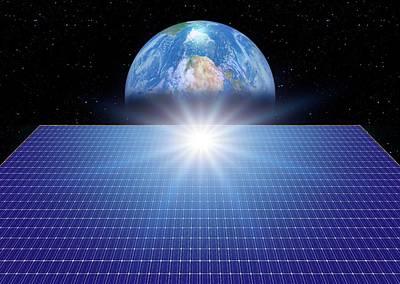 Space Solar Power Station Art Print
