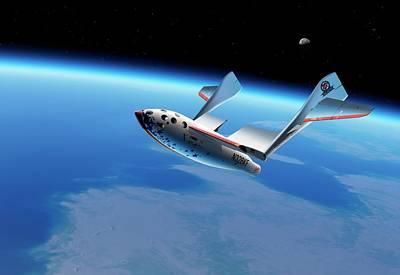 Curvature Photograph - Spaceshipone In Orbit by Detlev Van Ravenswaay