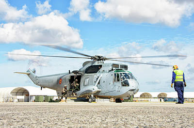 Rota Photograph - Spanish Navy Sh-3d At Rota Naval Air by Giovanni Colla