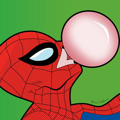 Soap Bubbles Digital Art - Spiderman  by Mark Ashkenazi
