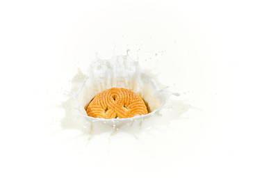 Photograph - Splashing Cookie by Peter Lakomy