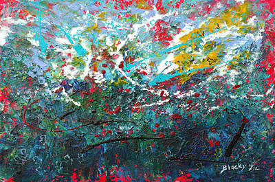 Abstract Expressionist Painting - Spring Has Sprung by Donna Blackhall