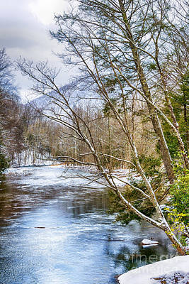Spring Snow Williams River  Art Print