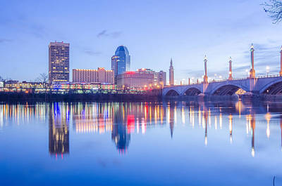 Photograph - Springfield Massachusetts City Skyline Early Morning by Alex Grichenko