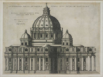 St. Peter's Basilica Art Print by British Library