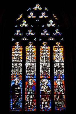 Stained Glass Window In The Seville Cathedral Art Print