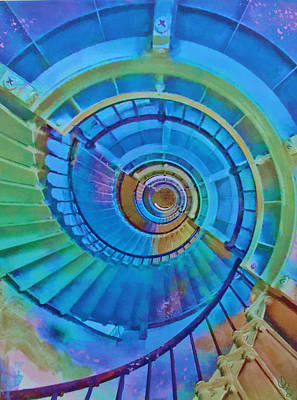 Stairway To Lighthouse Heaven Art Print