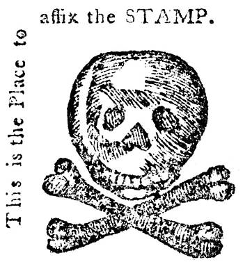 Taxation Painting - Stamp Act Cartoon, 1765 by Granger