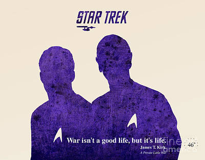 Star Trek Original Kirk Quote Art Print by Pablo Franchi