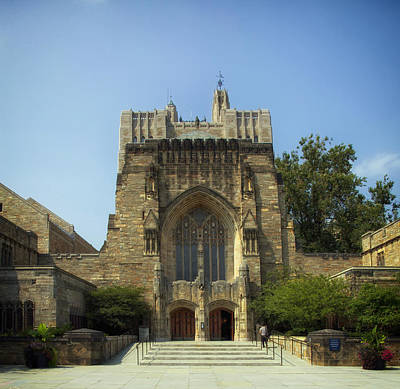 Entrance Door Photograph - Sterling Memorial Library - Yale University by Mountain Dreams