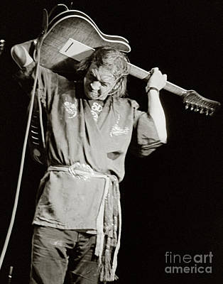 Srv Photograph - Stevie Ray Vaughan 1984 by Chuck Spang