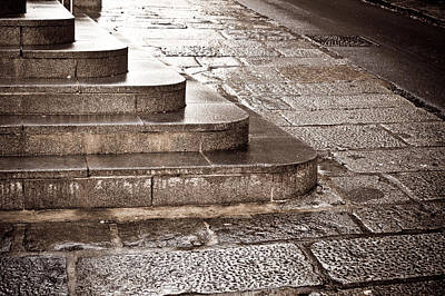 Entrance Memorial Photograph - Stone Steps by Tom Gowanlock