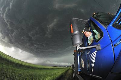 Storm Chasing, Nebraska, Usa Art Print by Science Photo Library