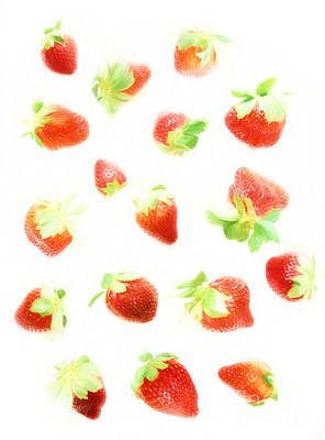 Strawberries Digital Art - Strawberries by HD Connelly